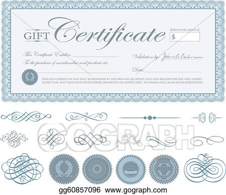 vector stock vector blue certificate border and ornaments stock