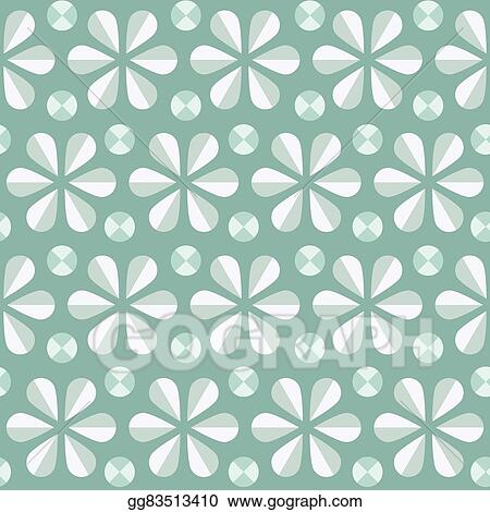 Eps Illustration Vector Blue Floral Seamless Pattern Vintage