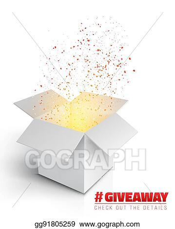 vector art vector box giveaway competition template eps clipart
