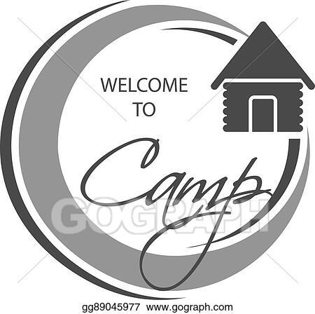 Eps Vector Vector Camping Icon Circular Symbol Welcome To Camp