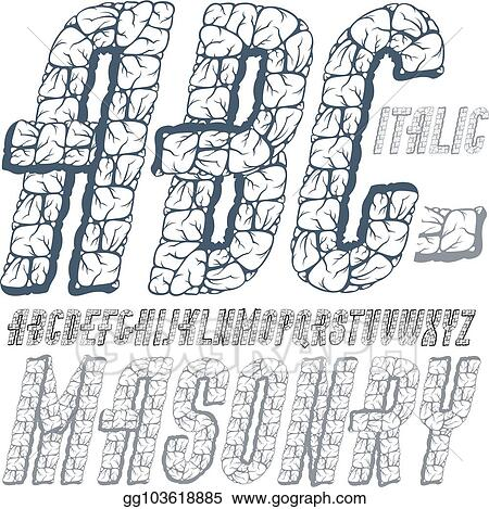 Vector Art Vector Capital Modern Alphabet Letters Abc Set Bold