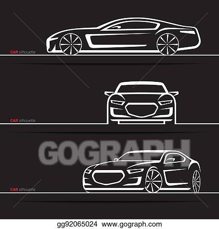 Vector Stock Vector Car Silhouettes Set Modern Luxury Sedan