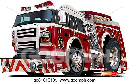 vector art vector cartoon firetruck clipart drawing gg81613195