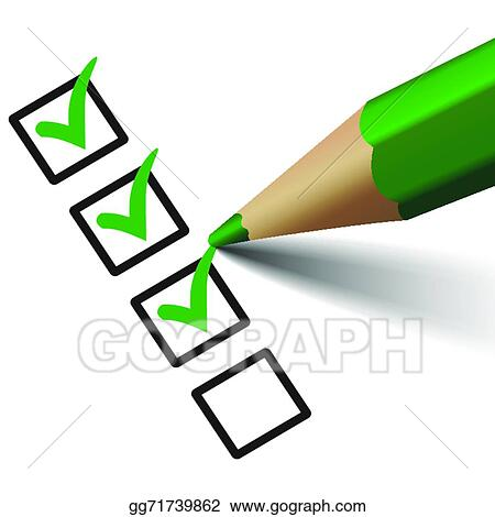 Vector Art Vector Check Mark Symbol On Checklist Clipart Drawing