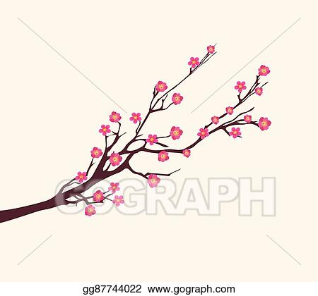 Vector Art Vector Cherry Blossom For New Year Clipart Drawing Gg87744022 Gograph
