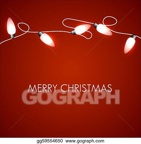 Christmas Chain Clipart.Vector Stock Vector Christmas Background With White Lights