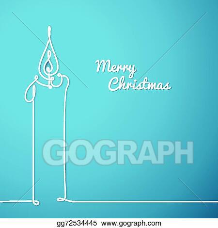 Vector Stock Vector Christmas Card Continuous Line Drawing Stock Clip Art Gg72534445 Gograph