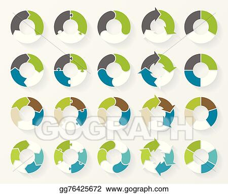 Vector Stock Vector Circle Arrows Infographic Template For Cycle
