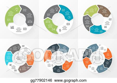 vector stock vector circle arrows infographics set template for
