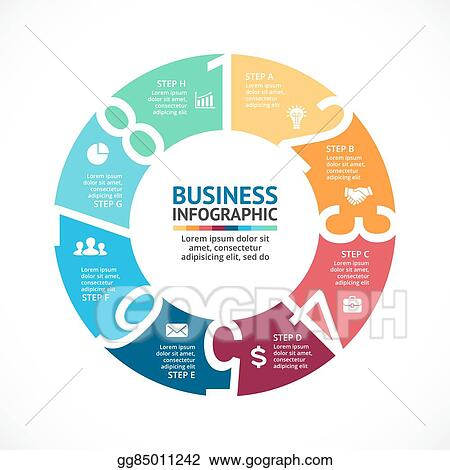 Vector art vector circle arrows numbers infographic diagram vector circle arrows numbers infographic diagram graph presentation chart business cycle concept with options parts steps processes ccuart Image collections