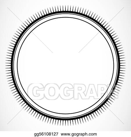 Vector Illustration - Vector circle burst frame. Stock Clip Art ...