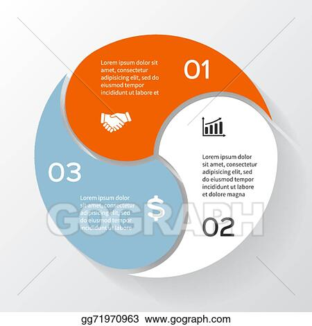 Vector illustration vector circle infographic template for vector circle infographic template for diagram graph presentation and chart business concept with 3 options parts steps or processes cheaphphosting Images