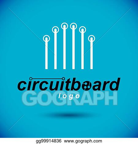 Vector Art - Vector circuit board with electronic components of ...