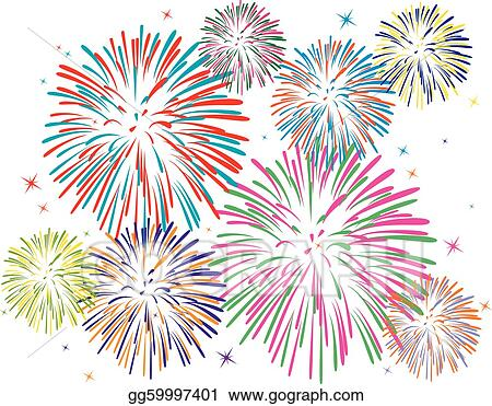 Vector Clipart - Vector colorful fireworks. Vector ...