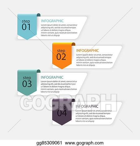 Vector art vector colorful info graphics for your business can be used for info graphics graphic or website layout vector numbered banners diagram horizontal cutout lines web design ccuart Choice Image