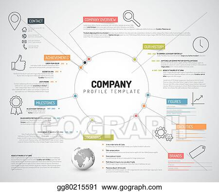 Clip Art Vector - Vector company infographic overview design ...