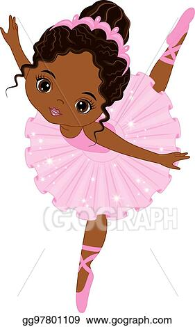 Eps Illustration Vector Cute Little African American