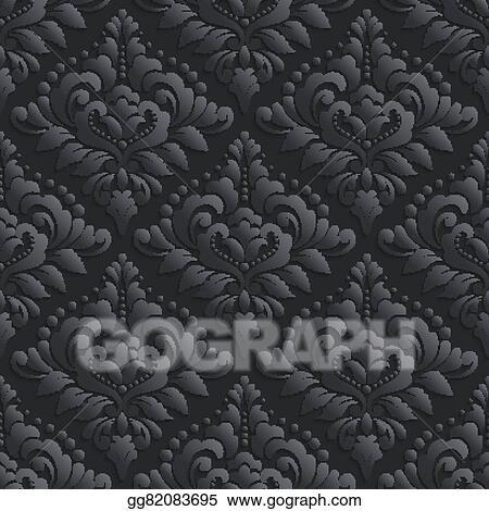 Eps Illustration Vector Damask Seamless Pattern Background