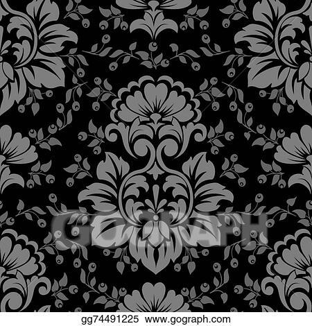 Eps Illustration Vector Damask Seamless Pattern Element Elegant