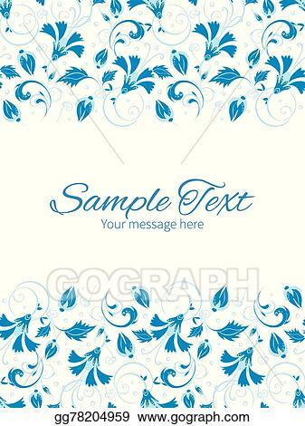Eps illustration vector dark blue turkish floral vertical double vector dark blue turkish floral vertical double borders frame invitation template stopboris Gallery