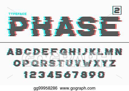 Eps Illustration Vector Decorative Futuristic Font Design Alphabet Typeface Sh Vector Clipart Gg99958286 Gograph