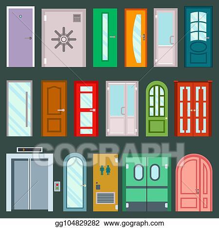 Vector Clipart Vector Doors Design Furniture Elements