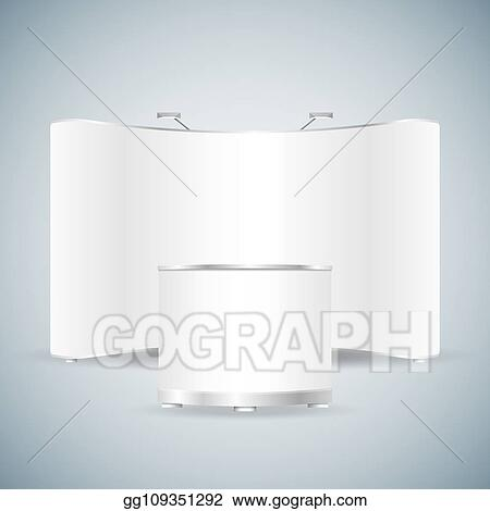 Trade Exhibition Stand Vector : Podium trade exhibition stand stock vector getty images