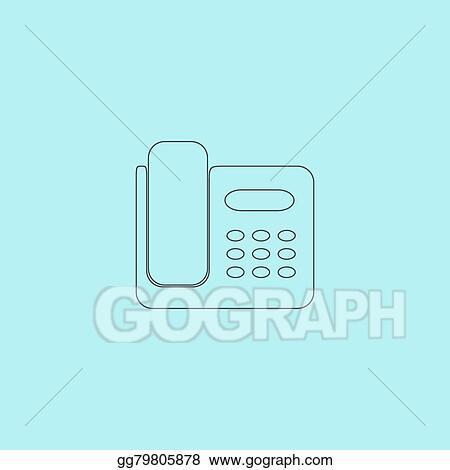 vector illustration vector fax machine illustration stock clip