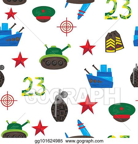 EPS Vector - Vector flat army, military seamless pattern