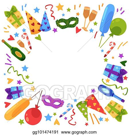 Vector Art Vector Flat Happy Birthday Card Template Eps Clipart