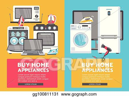 Vector Art Vector Flat Home Appliance Sale Icon Set Clipart