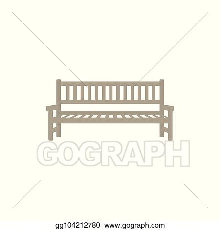 Vector Art Vector Flat Street Park Bench Icon Clipart Drawing