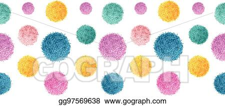 Eps Vector Vector Floating Colorful Birthday Party Pom