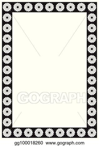 Vector Illustration Vector Flower Page Border A4 Design For