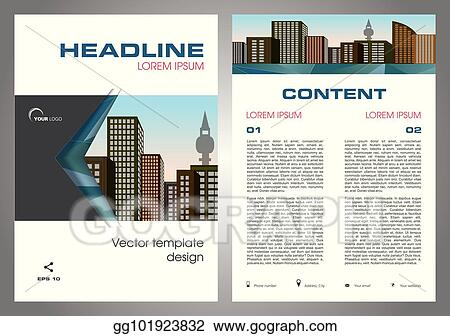 vector illustration vector flyer corporate business annual