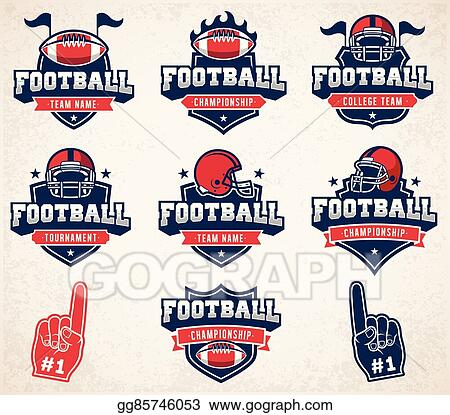 clip art vector vector football logos and insignias stock eps rh gograph com free football logos clip art michigan football logo clip art