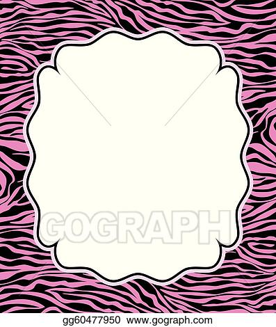 Vector Stock - Vector frame with abstract zebra skin texture. Stock ...