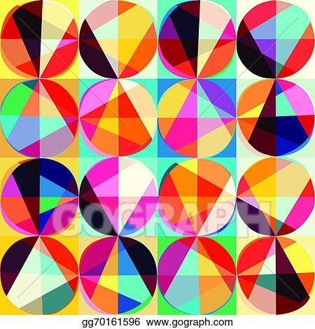 vector illustration vector geometric pattern of circles and