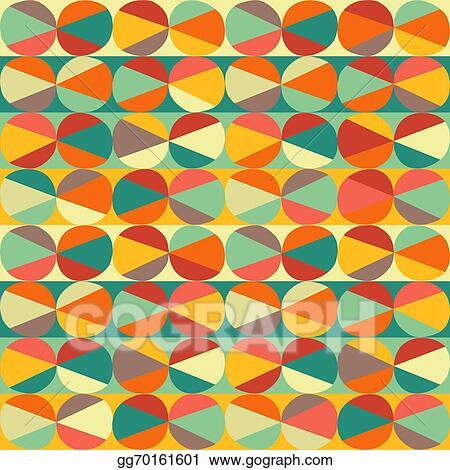 Vector Illustration - Vector geometric pattern of circles
