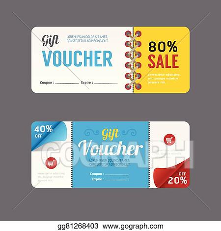 Eps Illustration Vector Gift Voucher Coupon Template Design Paper