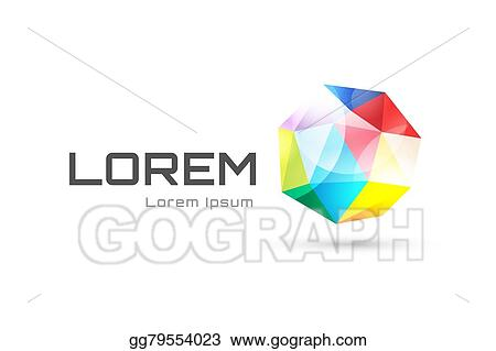 clip art vector vector globe abstract logo template tetrahedron