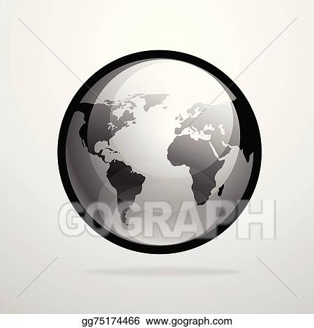 Eps vector vector globe icon world map silhouette illustration vector globe icon world map silhouette illustration gumiabroncs Images