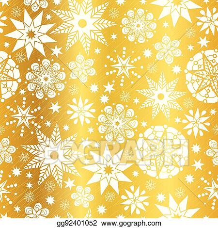 Vector Stock Vector Gold White Abstract Doodle Stars Seamless