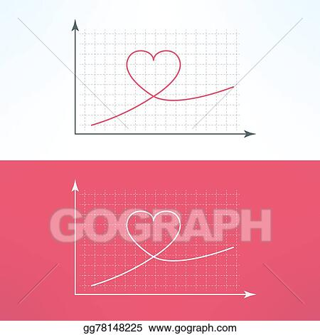 Eps illustration vector graphic chart with heart icon loving and vector graphic chart with heart icon loving and liking raise diagram graph ccuart Gallery