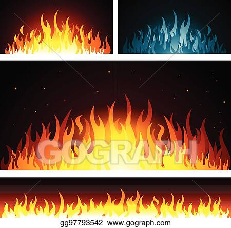 Vector Stock Vector Graphic Fire Flames Background Stock Clip Art Gg97793542 Gograph