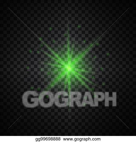 EPS Vector - Vector green glowing lights on transparent background