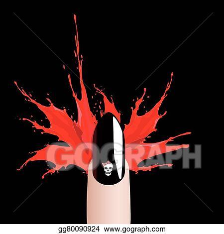 vector stock vector halloween finger and blood splash clipart illustration gg80090924 gograph gograph