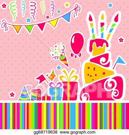 Vector Art Vector Happy Birthday Background Greeting Card Eps