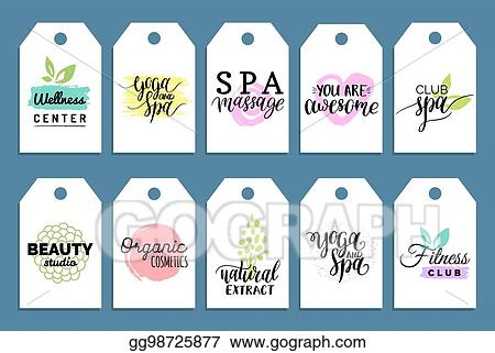 vector art vector health and beauty care labels spa yoga centers