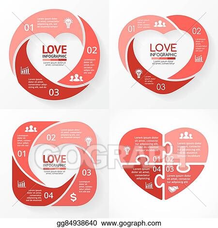 Vector Stock Vector Heart Circle Infographic Template For Love